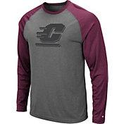Colosseum Men's Central Michigan Chippewas Grey Rad Tad Raglan Long Sleeve T-Shirt