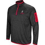 Colosseum Men's Cincinnati Bearcats Indus River Quarter-Zip Black Shirt