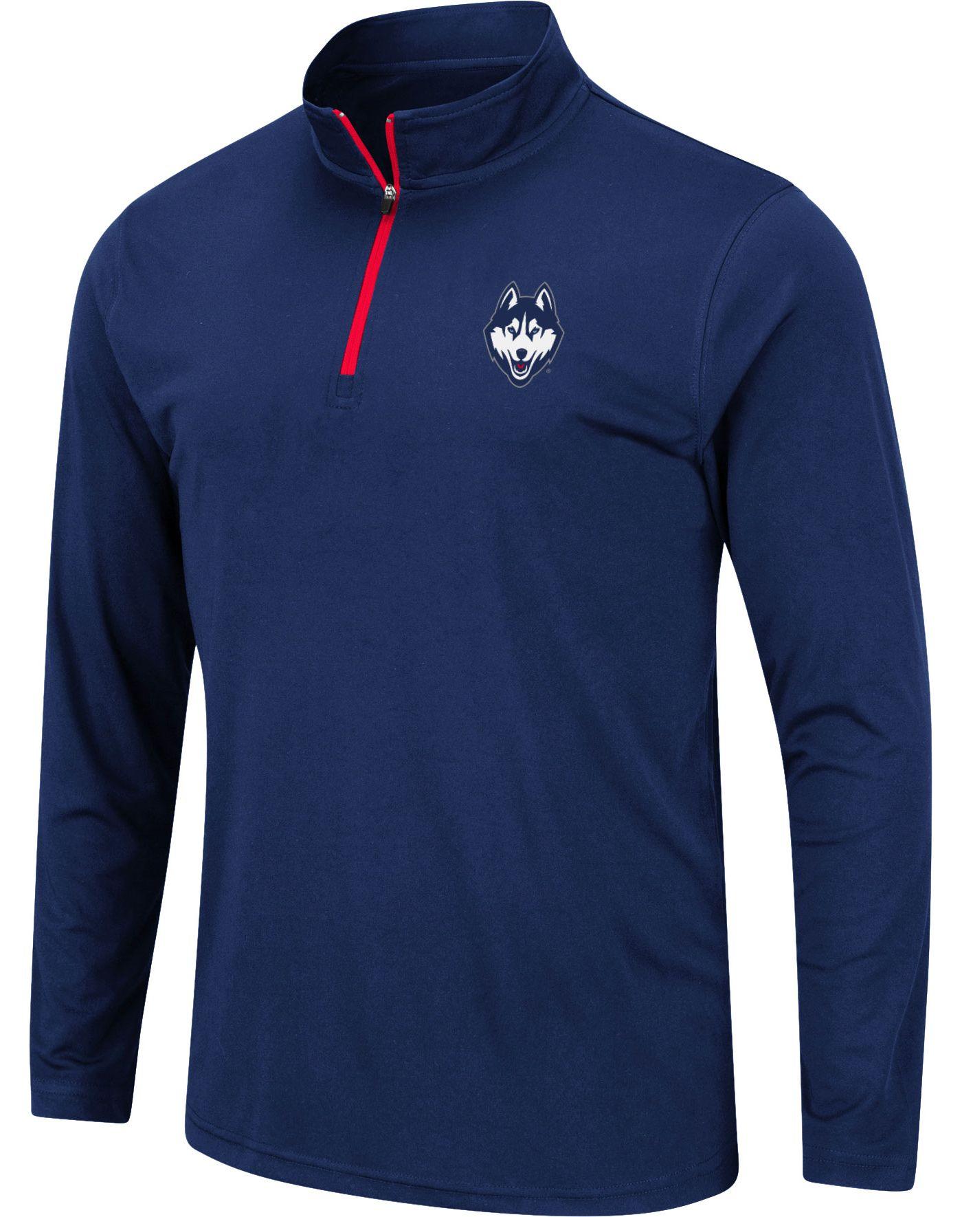 Colosseum Men's UConn Huskies Blue Quarter-Zip Shirt