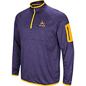 Colosseum Men's East Carolina Pirates Purple Indus River Quarter-Zip Shirt