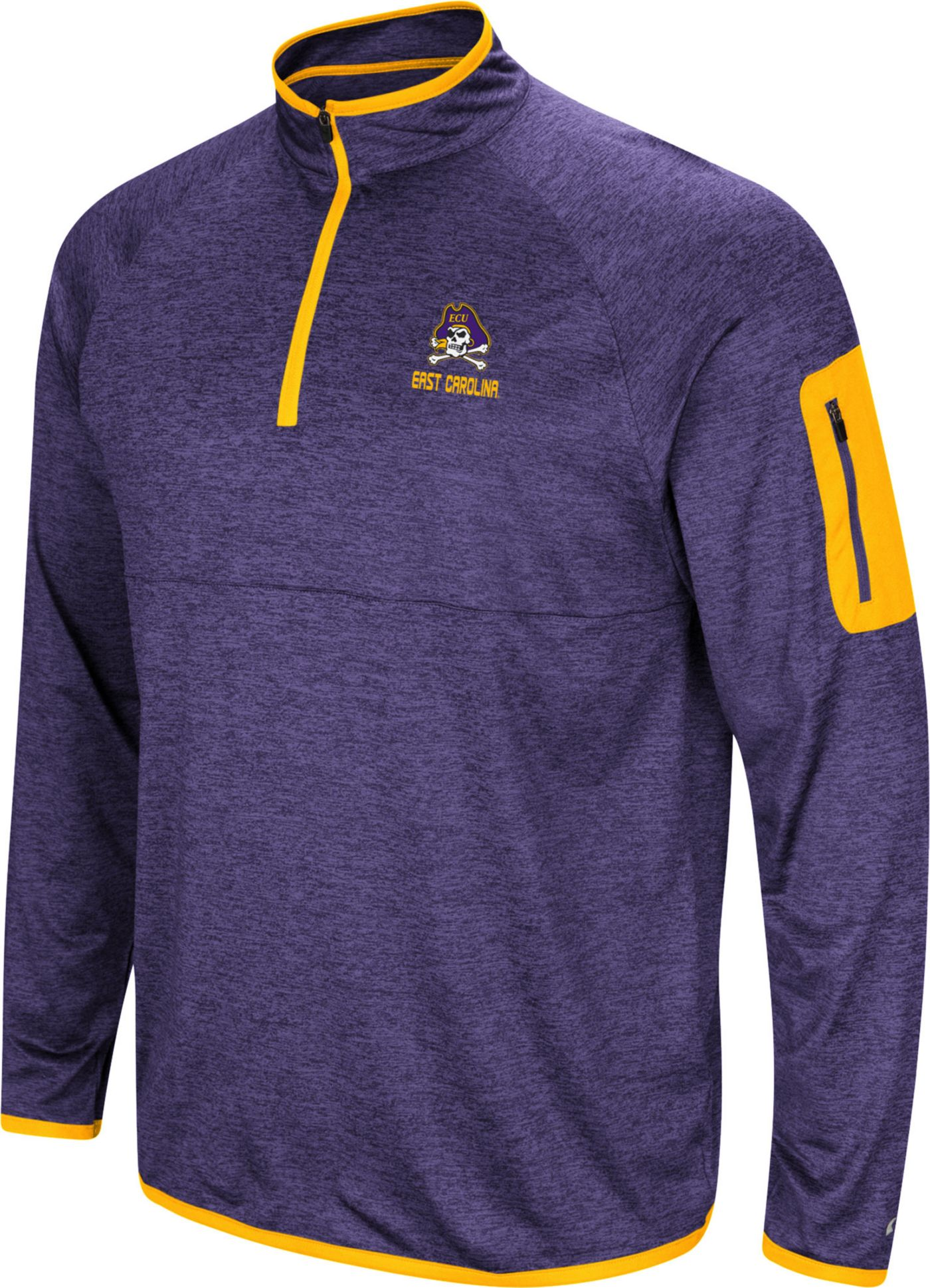 Colosseum Men's East Carolina Pirates Purple Indus River Quarter-Zip Shirt