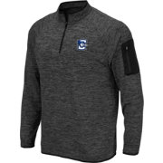 Colosseum Men's Creighton Bluejays Grey Quarter-Zip Shirt