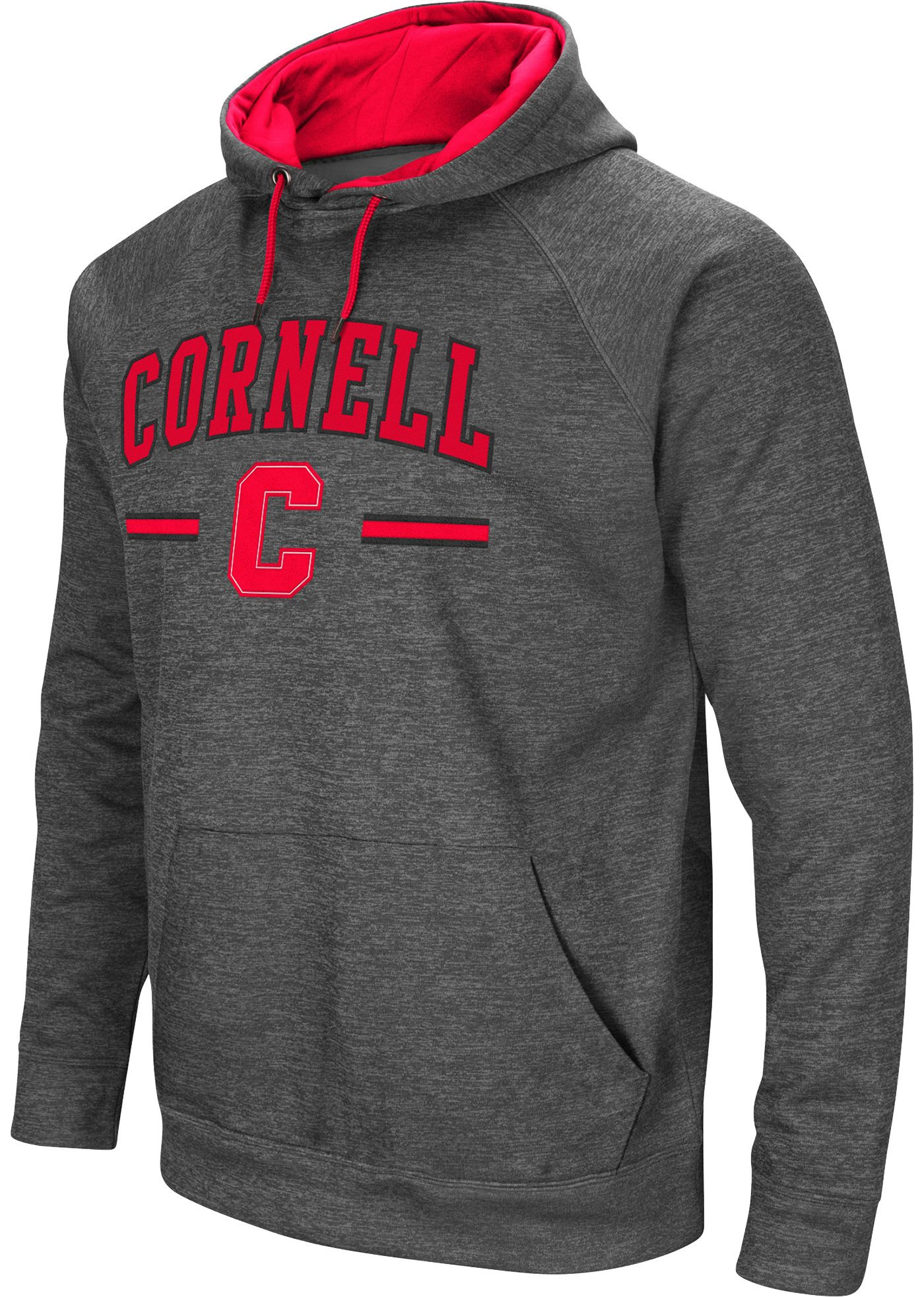 Colosseum Men's Cornell Big Red Grey Pullover Hoodie