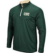 Colosseum Men's Colorado State Rams Green Loggerhead Quarter-Zip Shirt