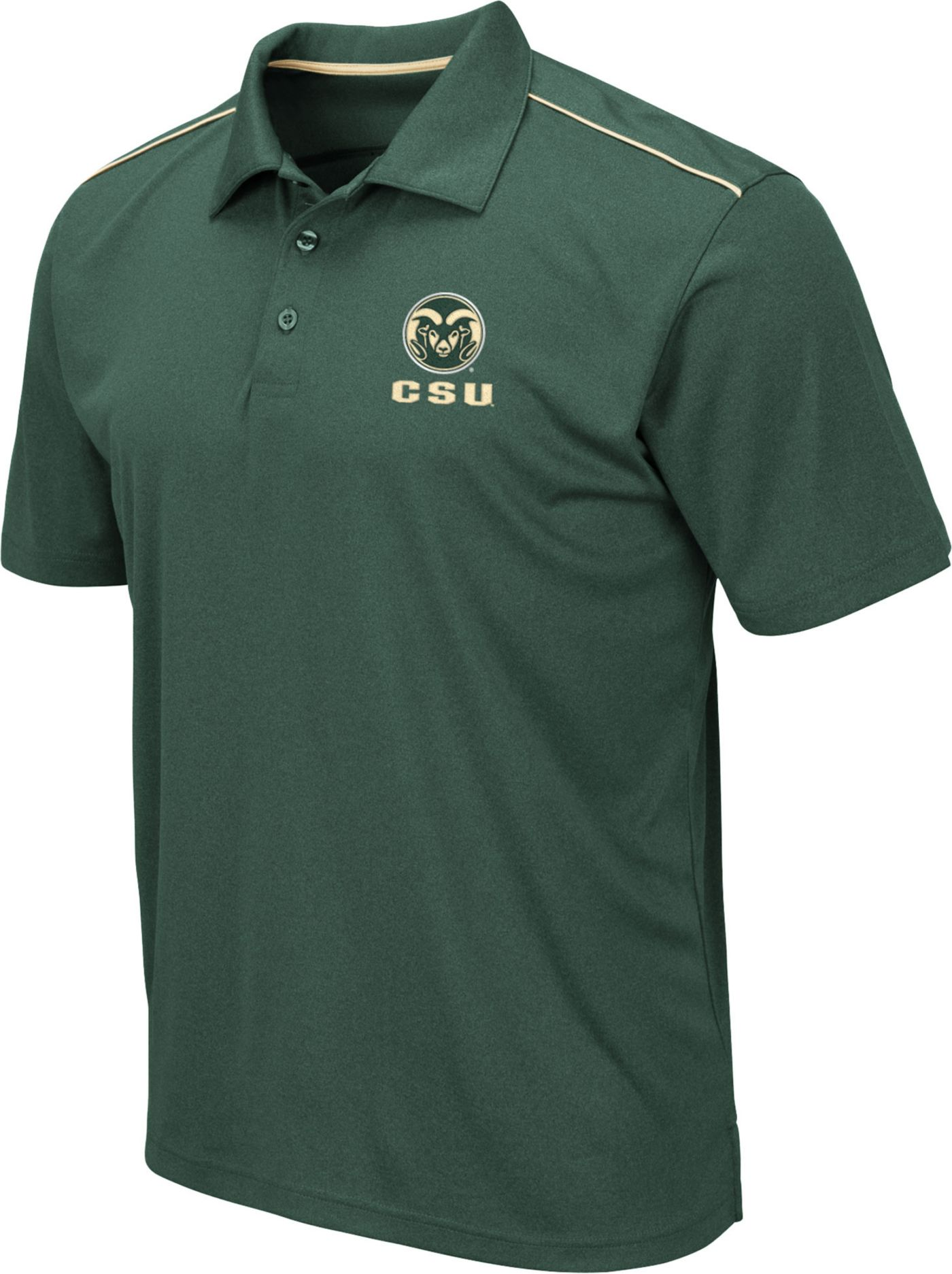 Colosseum Men's Colorado State Rams Green Eagle Polo