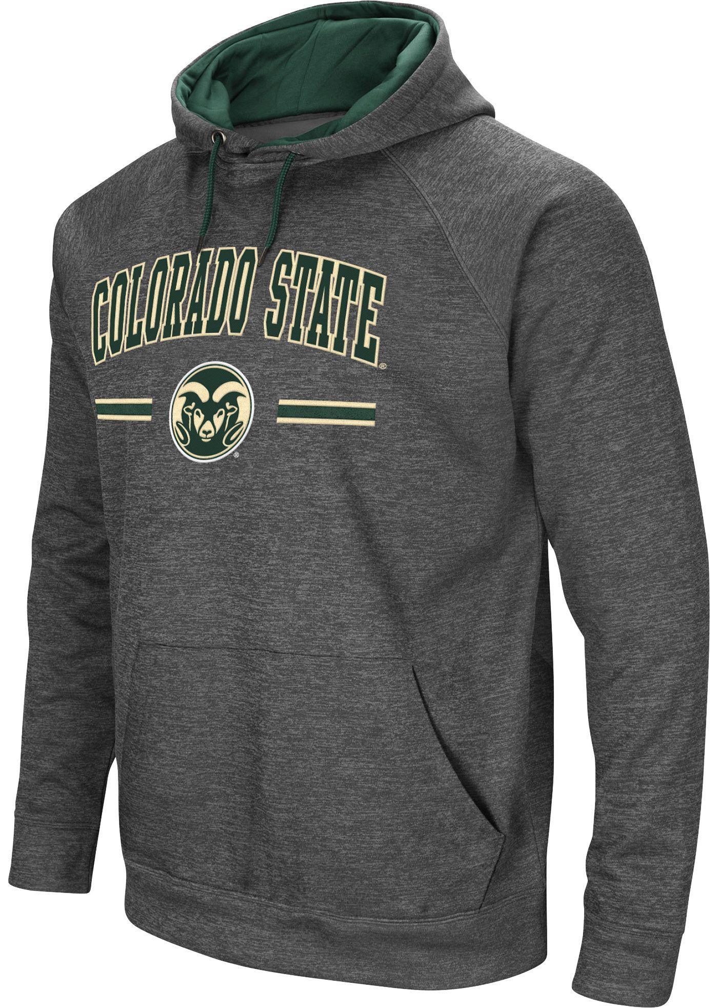 Colosseum Men's Colorado State Rams Grey Pullover Hoodie