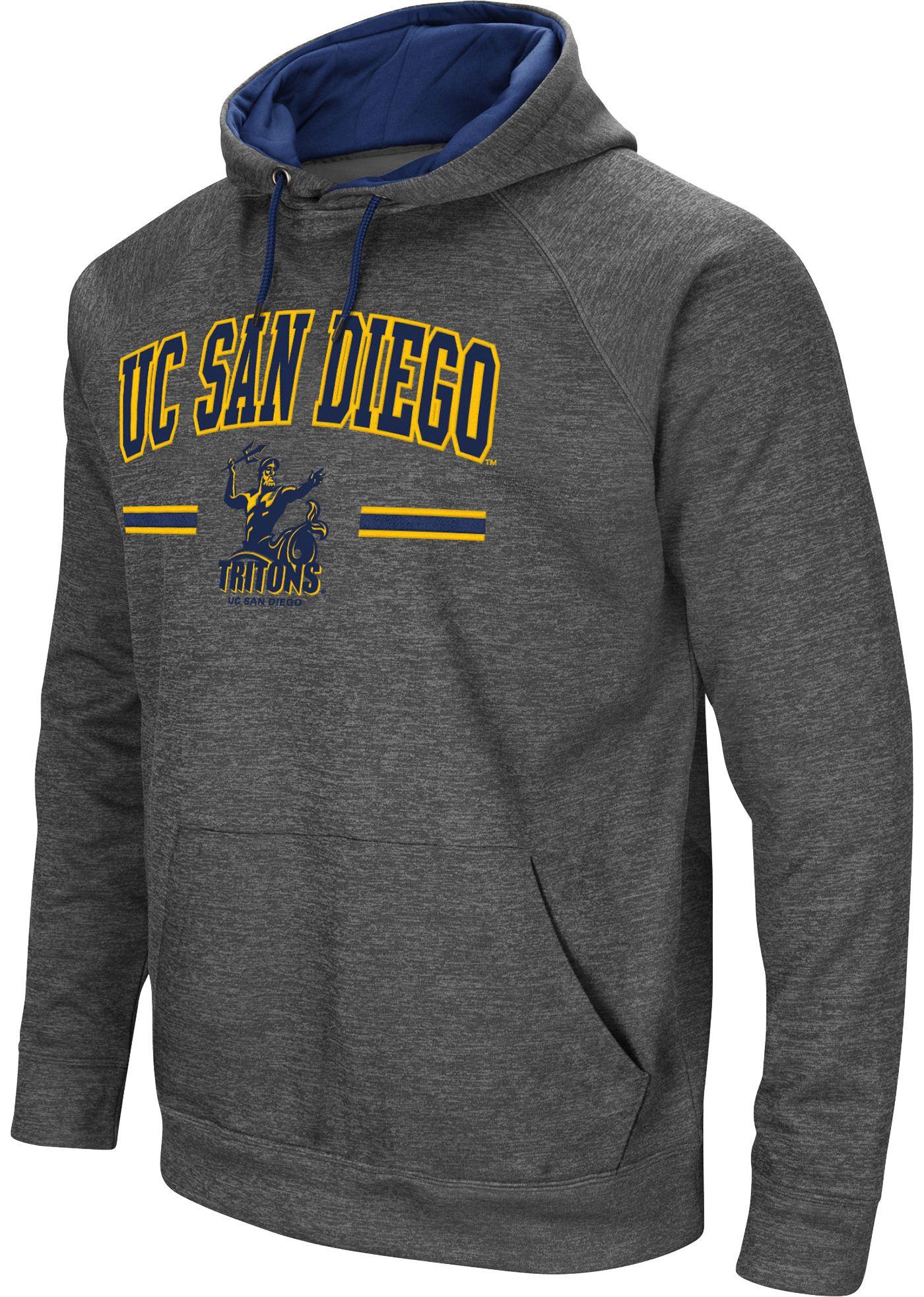 Colosseum Men's San Diego Toreros Grey Pullover Hoodie