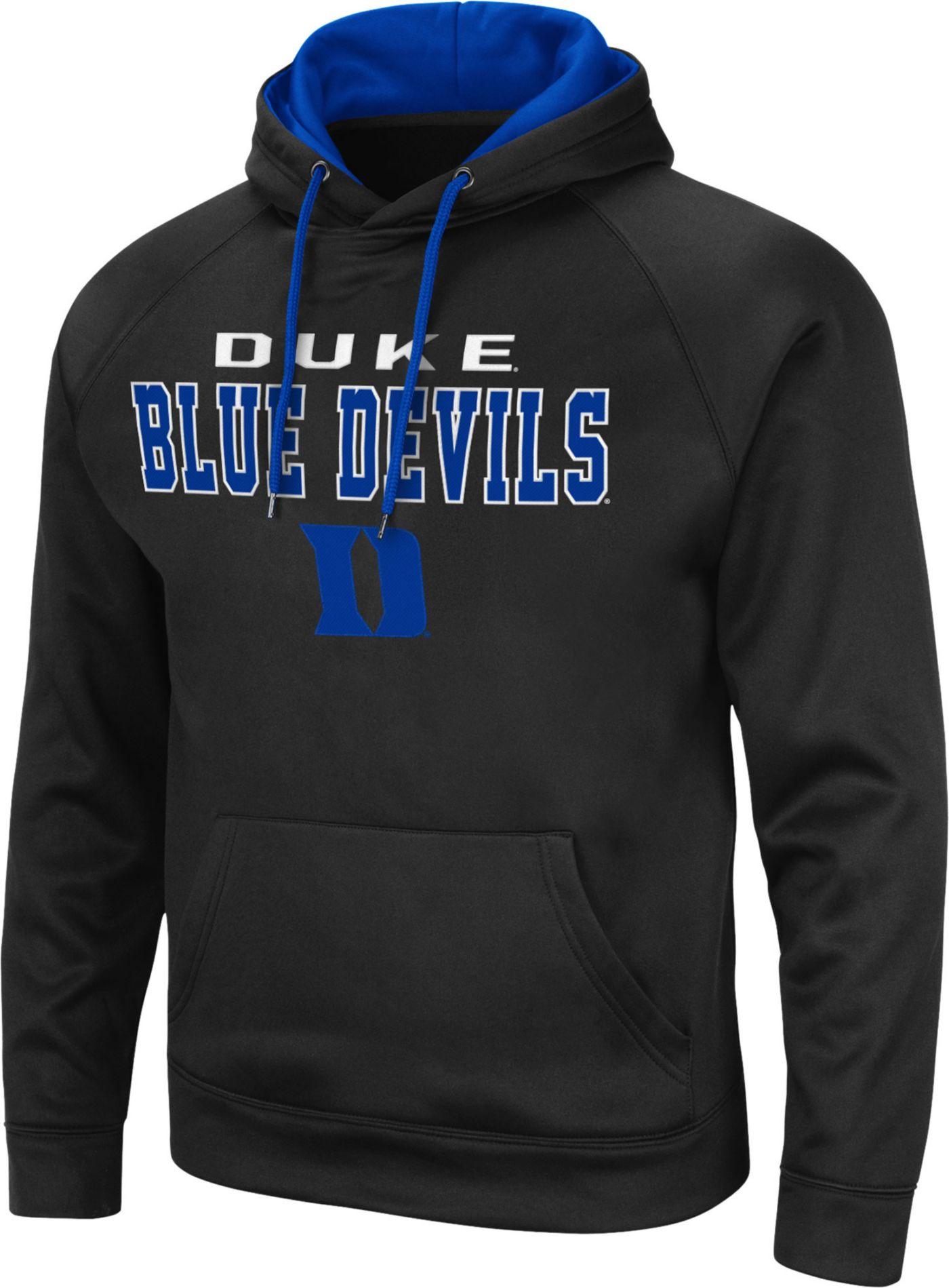 Colosseum Men's Duke Blue Devils Pullover Black Hoodie
