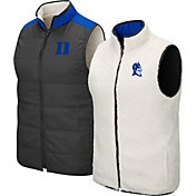 Colosseum Men's Duke Blue Devils Grey Blinky Reversible Full-Zip Vest