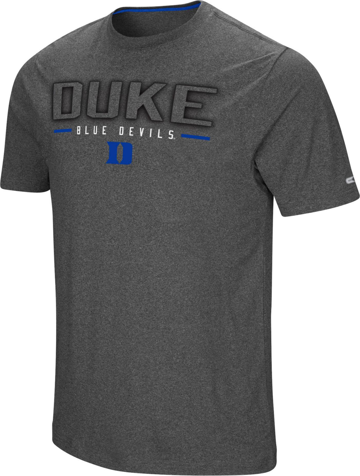 Colosseum Men's Duke Blue Devils Grey Bluefin T-Shirt