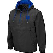 Colosseum Men's Duke Blue Devils Grey Dolph Half-Zip Jacket