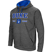 Colosseum Men's Duke Blue Devils Grey Pullover Hoodie