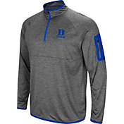 Colosseum Men's Duke Blue Devils Grey Indus River Quarter-Zip Shirt