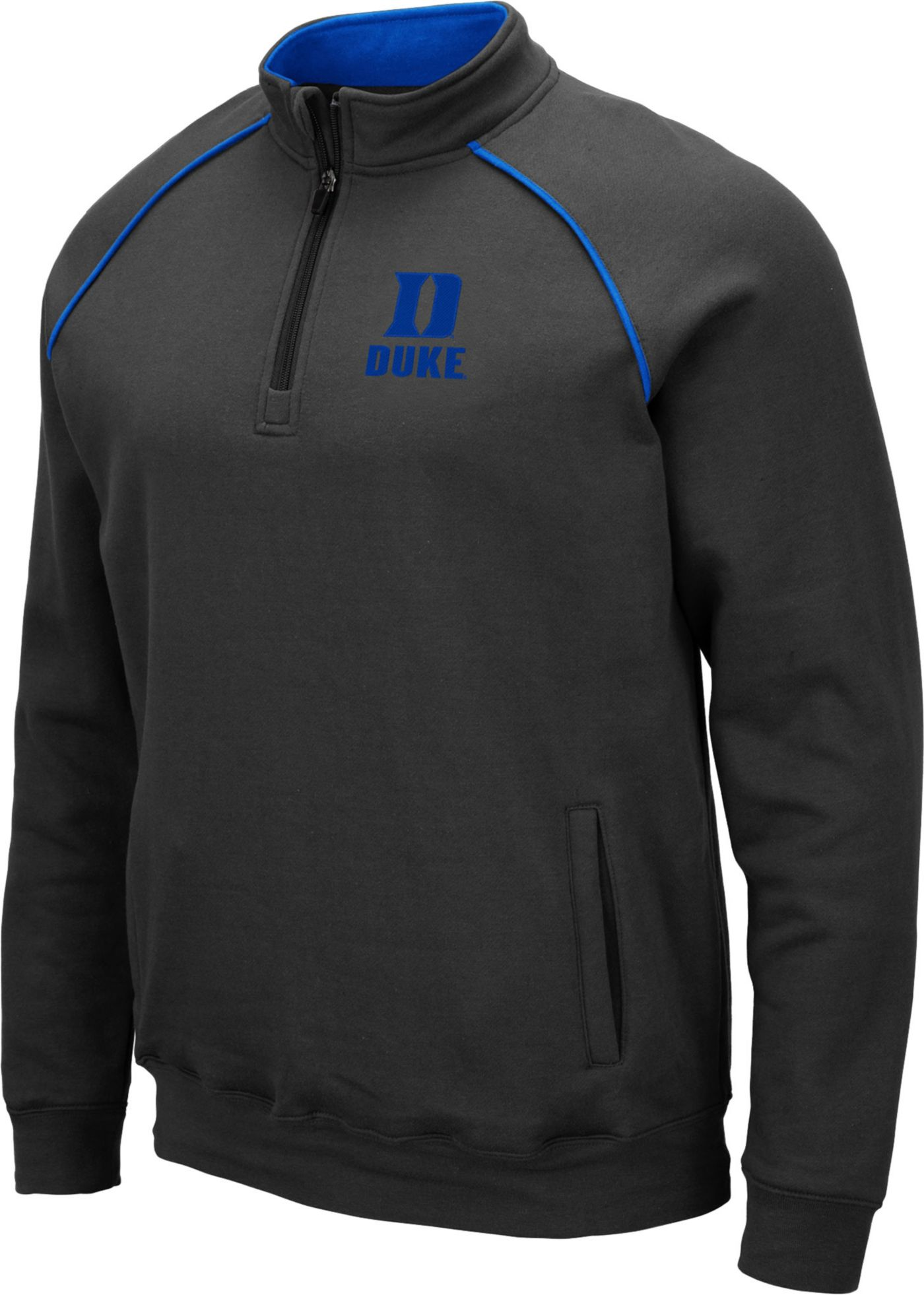 Colosseum Men's Duke Blue Devils Grey VF Staghorn Quarter-Zip Shirt