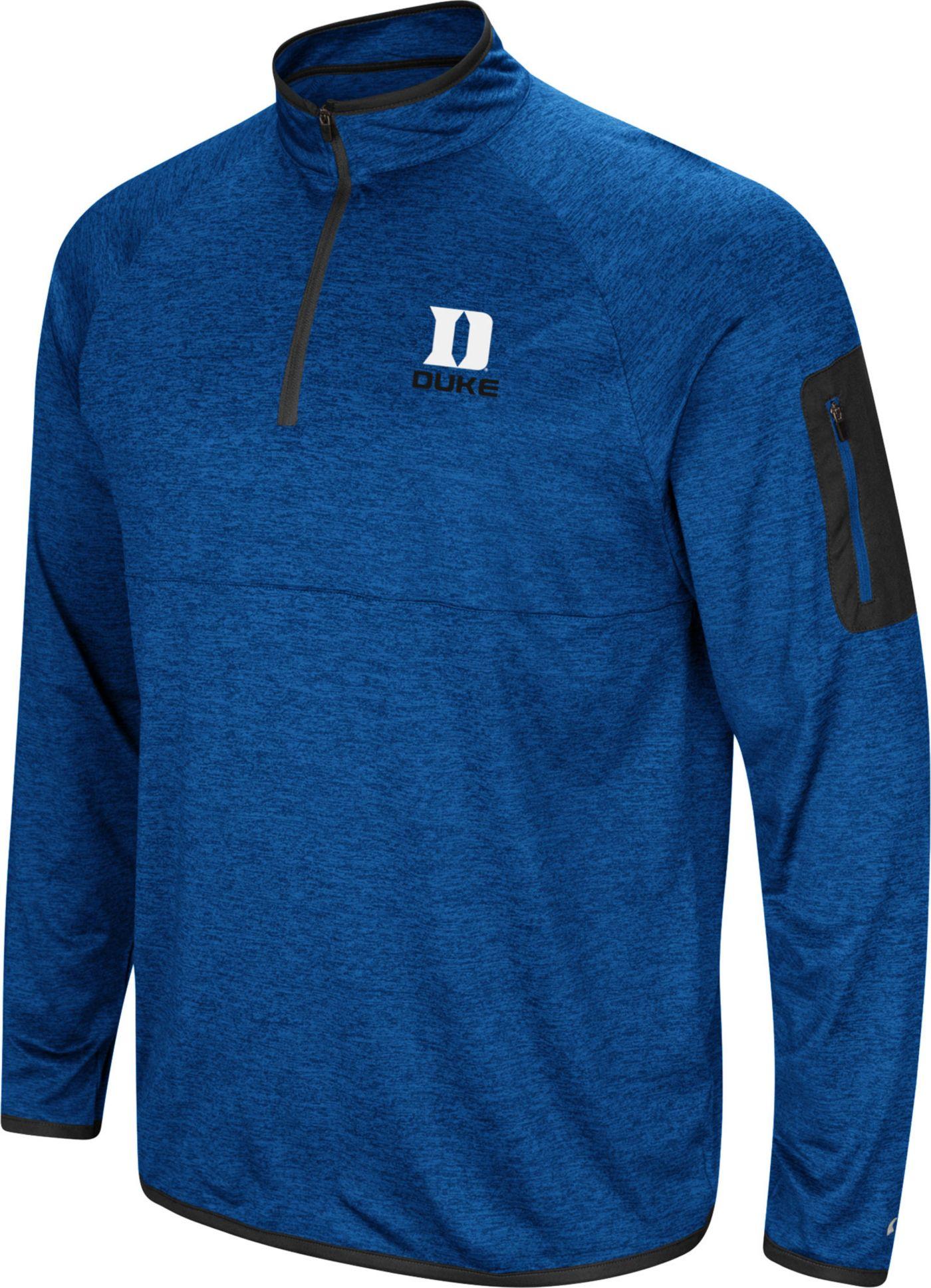 Colosseum Men's Duke Blue Devils Duke Blue Indus River Quarter-Zip Shirt