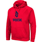Colosseum Men's Duquesne Dukes Red Pullover Hoodie