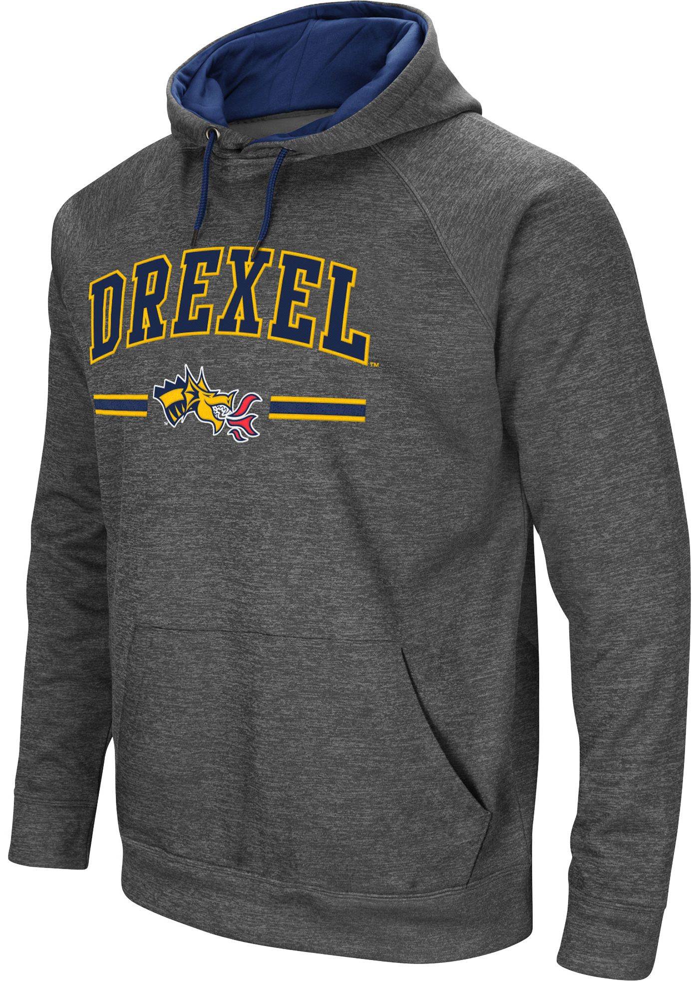 Colosseum Men's Drexel Dragons Grey Pullover Hoodie