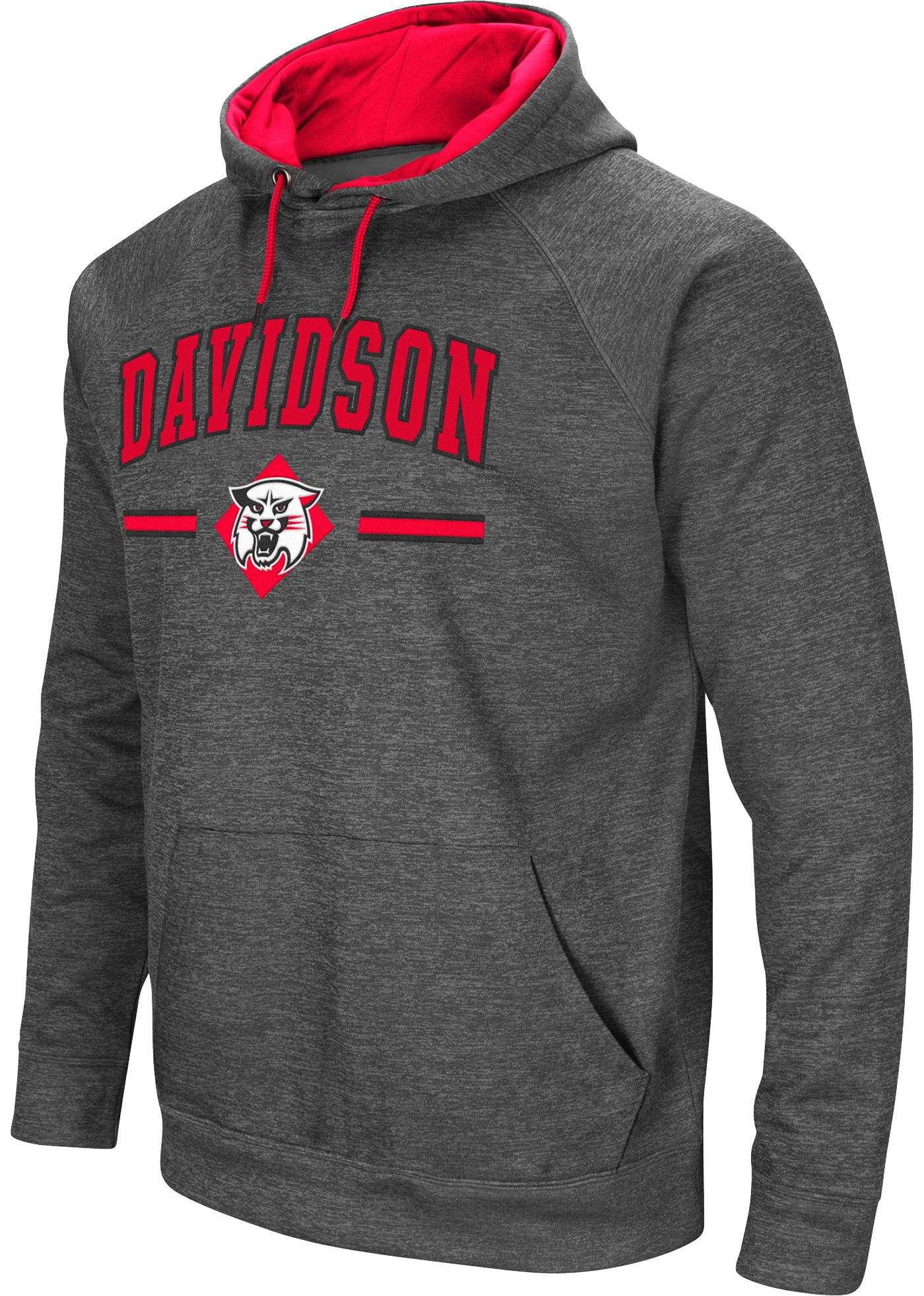 Colosseum Men's Davidson Wildcats Grey Pullover Hoodie