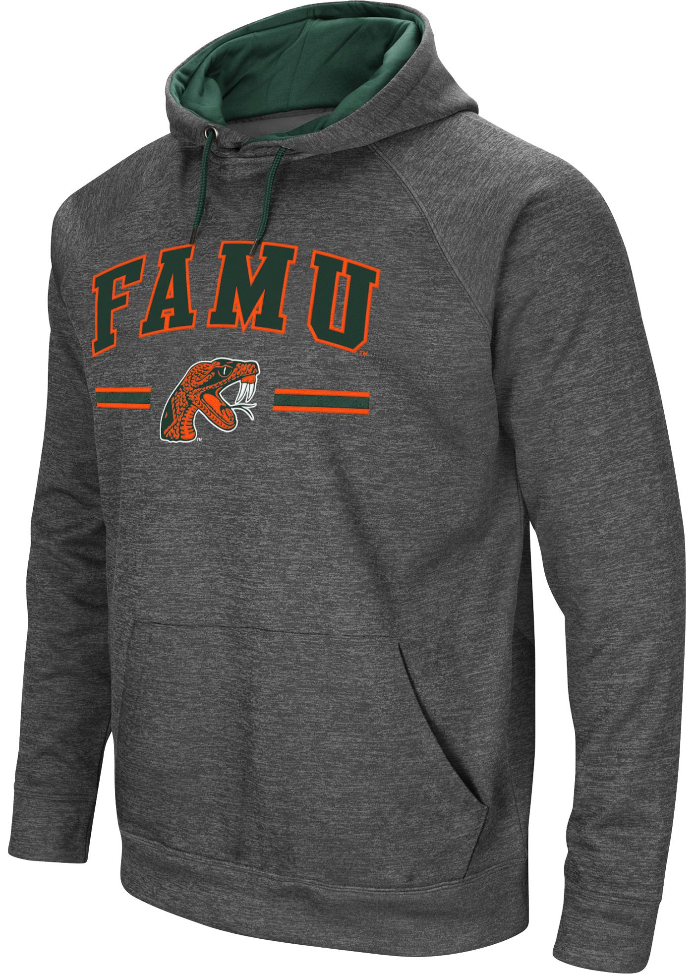 Colosseum Men's Florida A&M Rattlers Grey Pullover Hoodie
