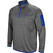 Colosseum Men's Florida Gators Grey Indus River Quarter-Zip Shirt