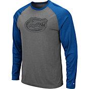 Colosseum Men's Florida Gators Grey Rad Tad Raglan Long Sleeve T-Shirt