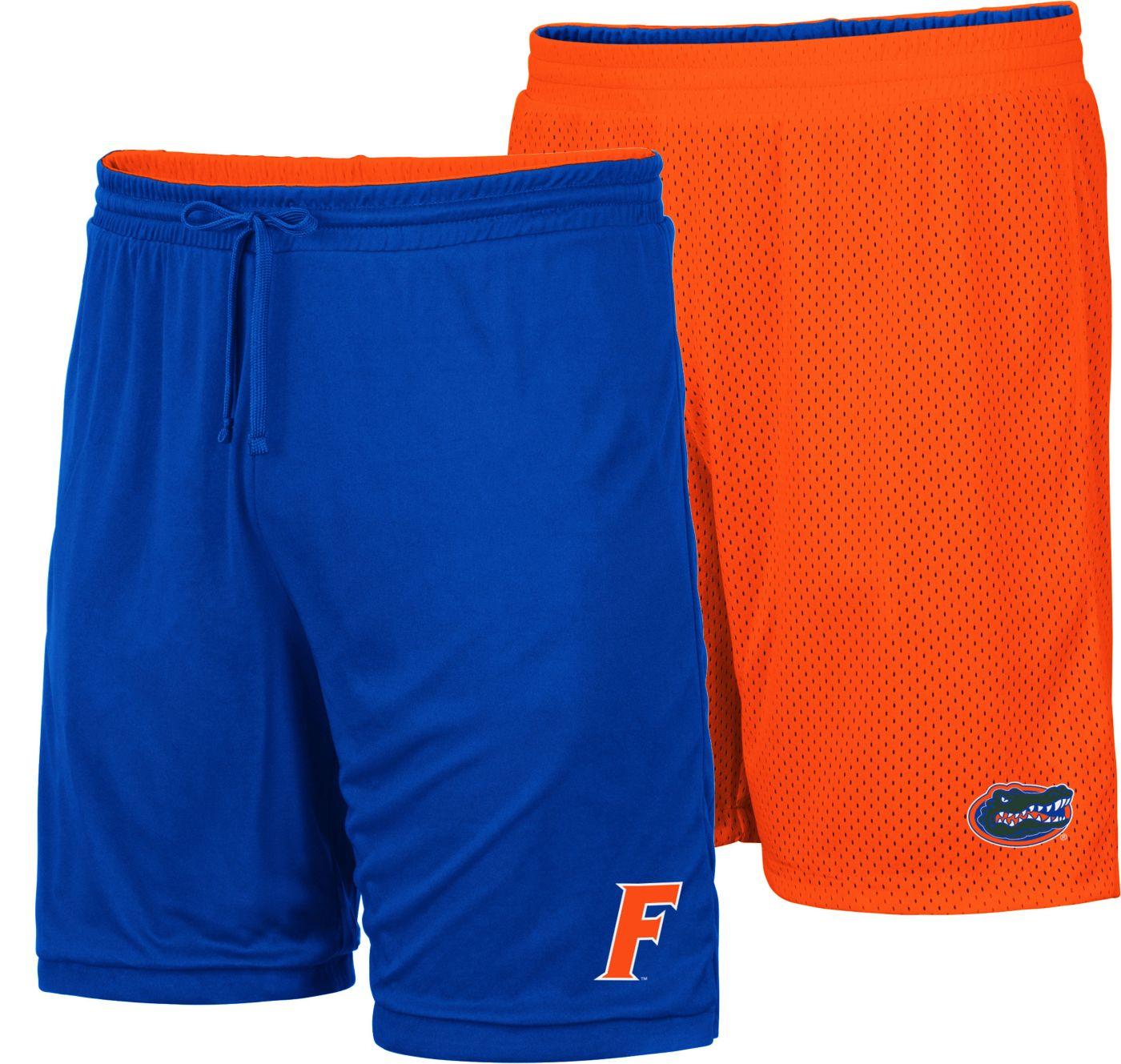 Colosseum Men's Florida Gators Blue/Orange Wiggum Reversible Shorts