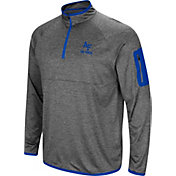 Colosseum Men's Air Force Falcons Grey Indus River Quarter-Zip Shirt