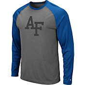 Colosseum Men's Air Force Falcons Grey Rad Tad Raglan Long Sleeve T-Shirt