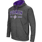 Colosseum Men's Furman Paladins Grey Pullover Hoodie