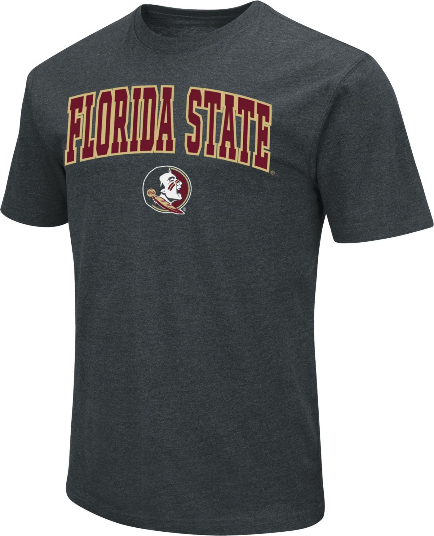 Colosseum Men's Florida State Seminoles Dual Blend Black T-Shirt