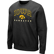 Colosseum Men's Iowa Hawkeyes Comic Book Crew Black Sweatshirt