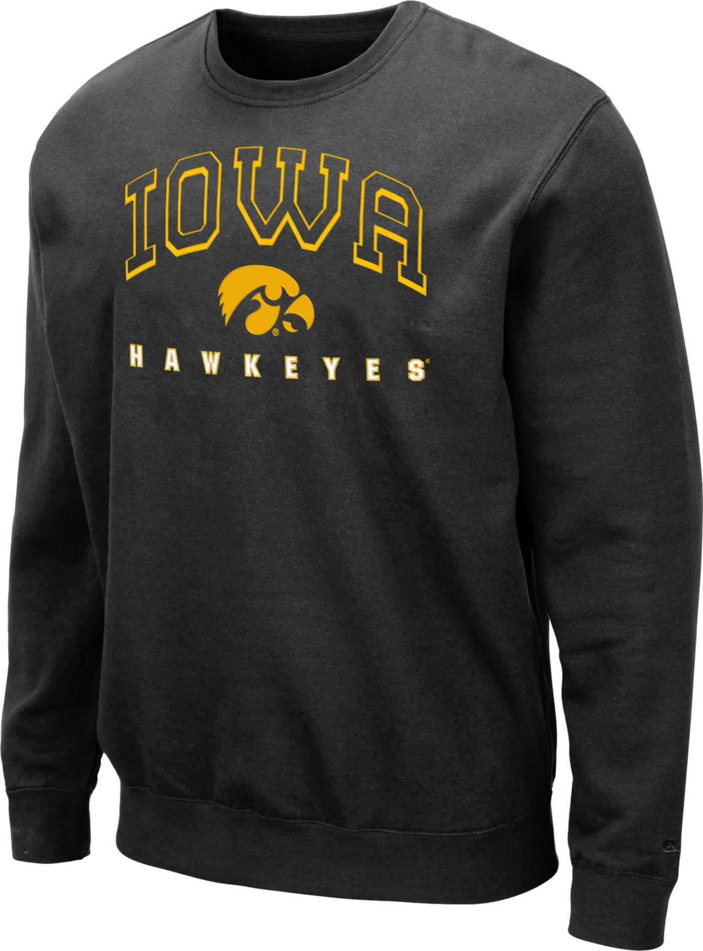 Colosseum Men's Iowa Hawkeyes Comic Book Crew Black Sweatshirt
