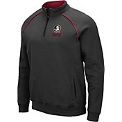 Colosseum Men's Florida State Seminoles Grey VF Staghorn Quarter-Zip Shirt