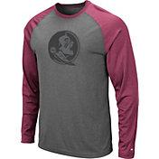 Colosseum Men's Florida State Seminoles Grey Rad Tad Raglan Long Sleeve T-Shirt