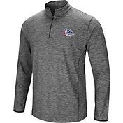 Colosseum Men's Gonzaga Bulldogs Grey Quarter-Zip Shirt