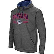 Colosseum Men's Gonzaga Bulldogs Grey Pullover Hoodie
