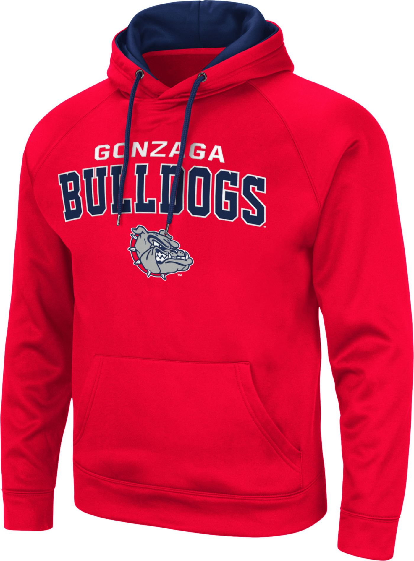 Colosseum Men's Gonzaga Bulldogs Red Pullover Hoodie