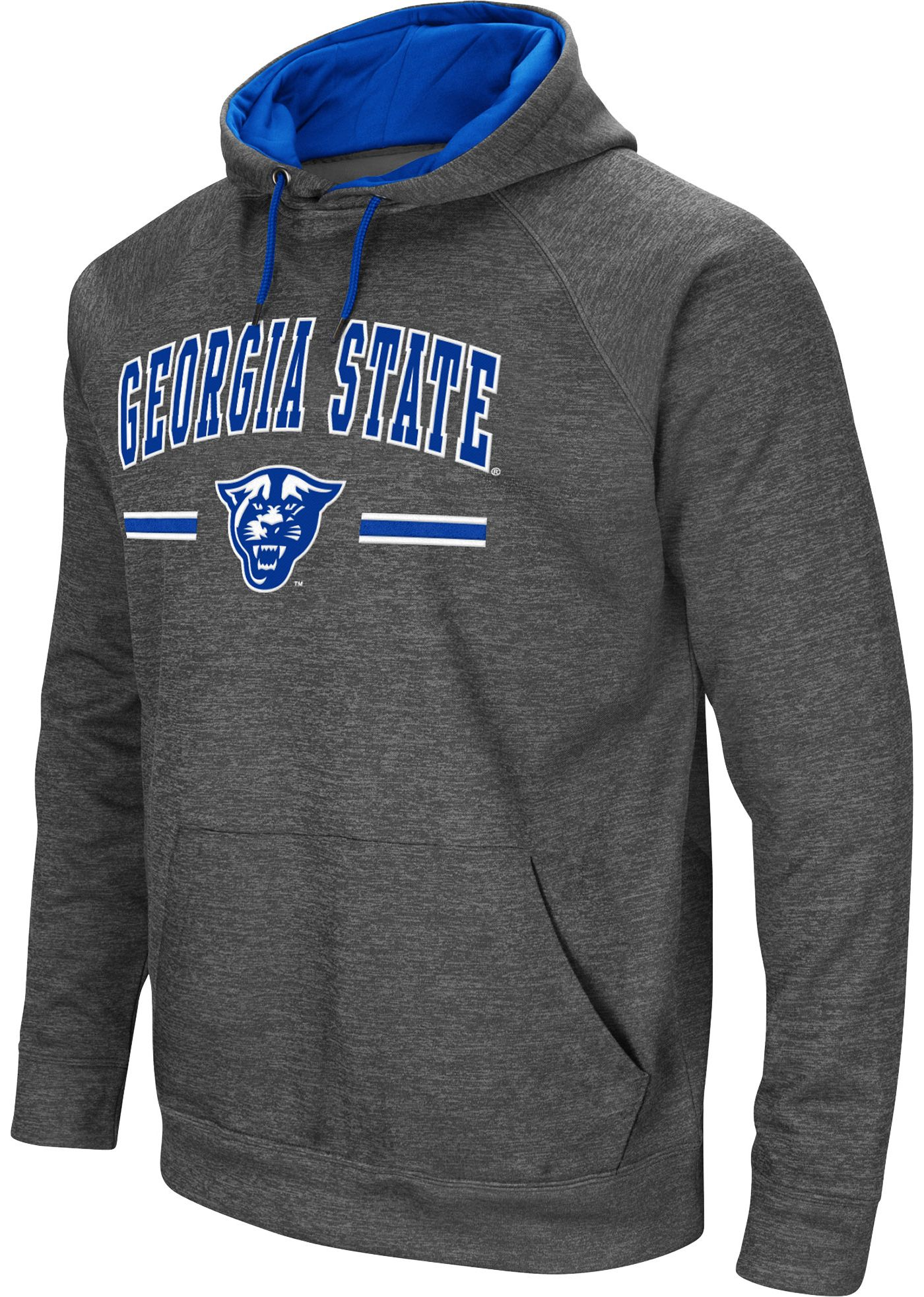 Colosseum Men's Georgia State  Panthers Grey Pullover Hoodie