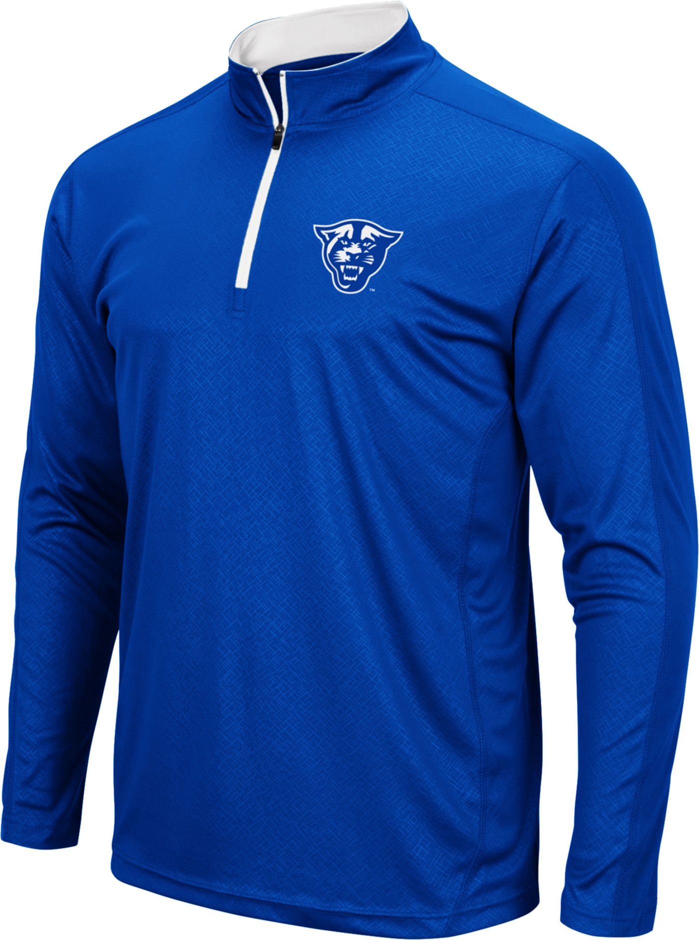 Colosseum Men's Georgia State  Panthers Royal Blue Loggerhead Quarter-Zip Shirt