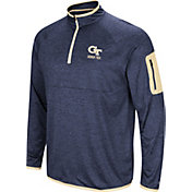 Colosseum Men's Georgia Tech Yellow Jackets Navy Indus River Quarter-Zip Shirt