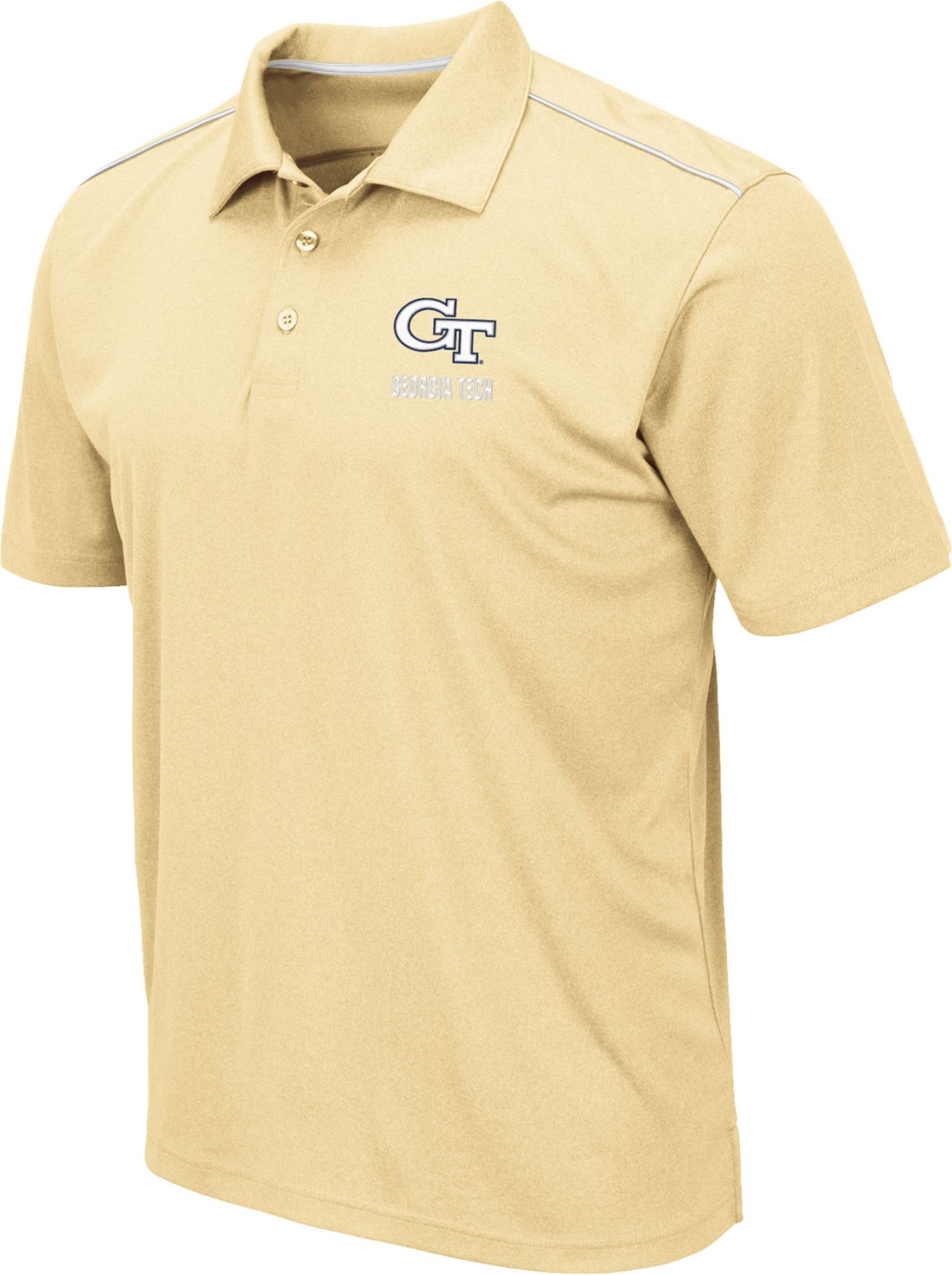 Colosseum Men's Georgia Tech Yellow Jackets Gold Eagle Polo