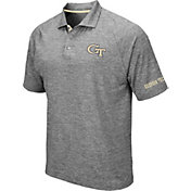 Colosseum Men's Georgia Tech Yellow Jackets Grey Chip Shot Polo