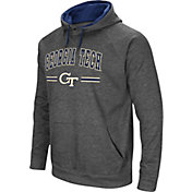 Colosseum Men's Georgia Tech Yellow Jackets Grey Pullover Hoodie