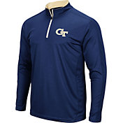 Colosseum Men's Georgia Tech Yellow Jackets Navy Loggerhead Quarter-Zip Shirt