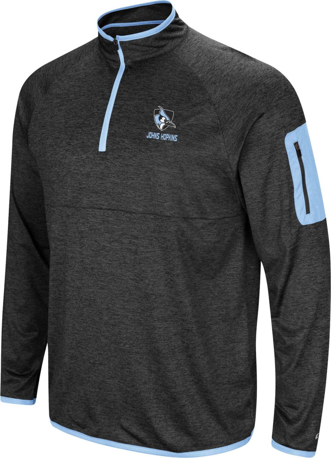 Colosseum Men's Johns Hopkins Blue Jays Indus River Quarter-Zip Black Shirt