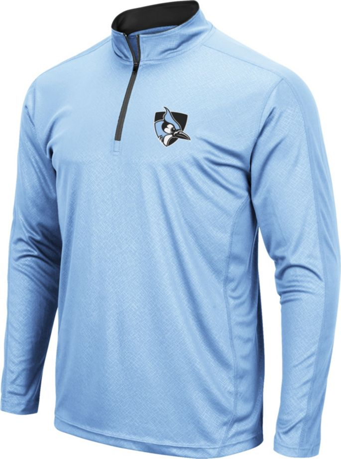 san francisco e7c52 7c927 Colosseum Men's Johns Hopkins Blue Jays Columbia Blue Loggerhead  Quarter-Zip Shirt