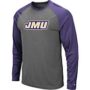 Colosseum Men's James Madison Dukes Grey Rad Tad Raglan Long Sleeve T-Shirt