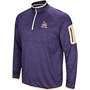 Colosseum Men's James Madison Dukes Purple Indus River Quarter-Zip Shirt
