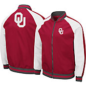 Colosseum Men's Oklahoma Sooners Crimson Kent Bomber Full-Zip Jacket