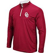 Colosseum Men's Oklahoma Sooners Crimson Loggerhead Quarter-Zip Shirt